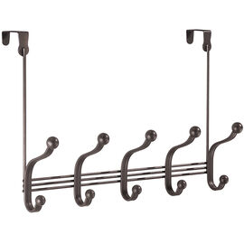 InterDesign York Over the Door 5 Hook Rack - Bronze
