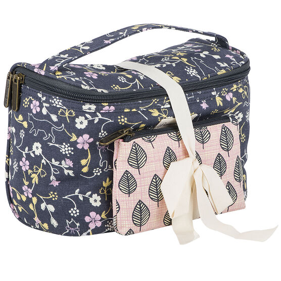 Primrose Hill Cats & Leaves Train Case - 2 piece