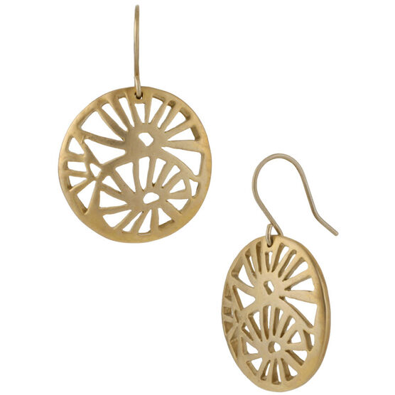 Kenneth Cole Openwork Drop Earrings - Gold Tone