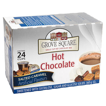 Grove Square Single Serve Hot Chocolote - Caramel - 24 pack