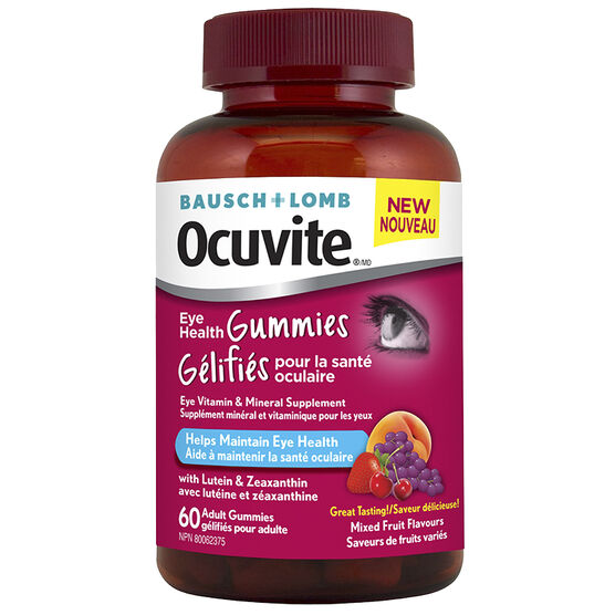 Bausch & Lomb Ocuvite Adult Gummies - Mixed Fruit - 60's