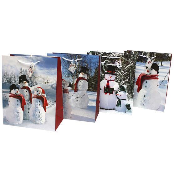 Christmas Large Snowman Gift Bag - Assorted
