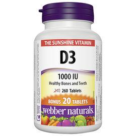 Webber Naturals Vitamin D3 1000IU - 240's