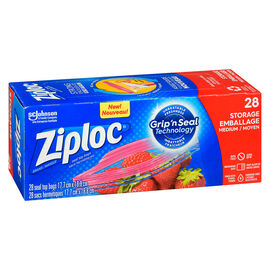 Ziploc Storage Bags - Regular - 28's