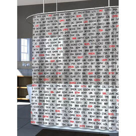 Splash Vinyl Shower Curtain - Text