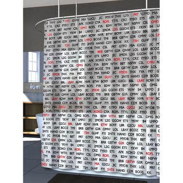 Splash Vinyl Shower Curtain - Text