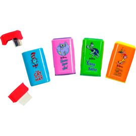 Dr. Seuss Pencil Sharpener and Eraser - Assorted