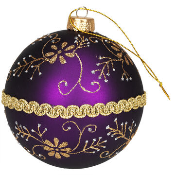 Winter Wishes Elegance Ball Ornament - Purple