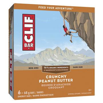 Clif Bar Crunch - Peanut Butter - 6 x 68g