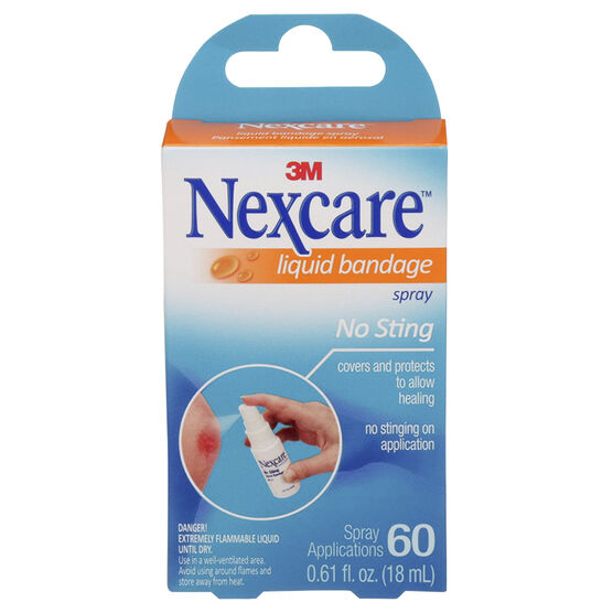 3M Nexcare No-Sting Liquid Bandage Spray - 60 Applications