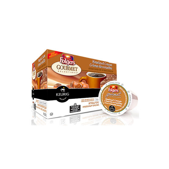 K-Cup Folgers Coffee Pods - Hazelnut Cream - 18's