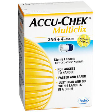Accu-Chek Multiclix Lancets - 200 + 4