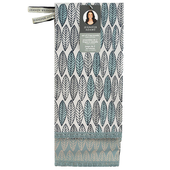 Jennifer Adams Dish Towel - Light Blue - 2 pack