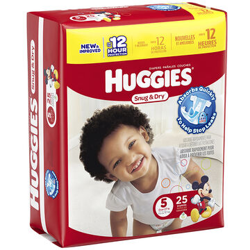 Huggies Snug & Dry Diapers - Size 5 - 25's