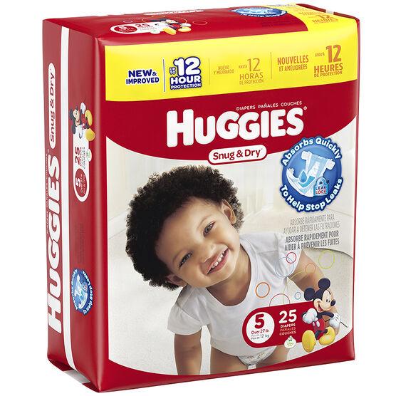 Huggies Snug & Dry Diapers - Size 5 - 25's