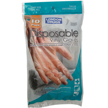 London Drugs Disposable Vinyl Gloves - 10's