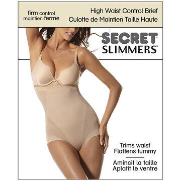 Secret Slimmers High Waist Control Brief - Large - Natural