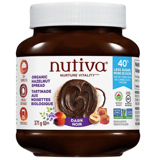 Nutiva Organic Hazelnut Spread -Dark - 369g