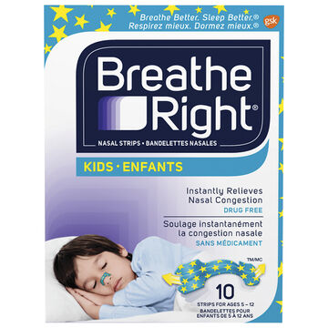 Breathe Right Kids Nasal Strips - 10's
