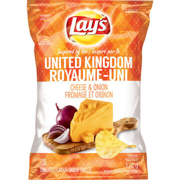 Lays Potato Chips - Cheese & Onion - 170g