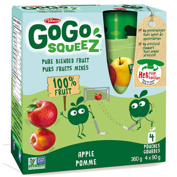 Materne Gogo Squeeze - Apple - 4 x 90g pouches