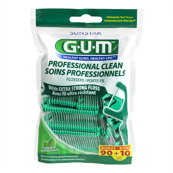 G.U.M. Professional Clean Flossers - Fresh Mint - 90's