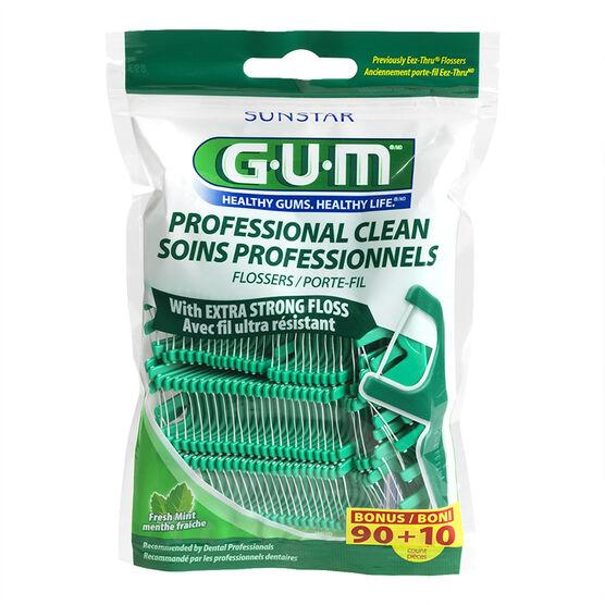 G.U.M. Professional Clean Flossers - Fresh Mint - 90's