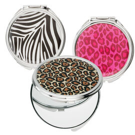 Danielle Safari Round Compact Mirror - Assorted