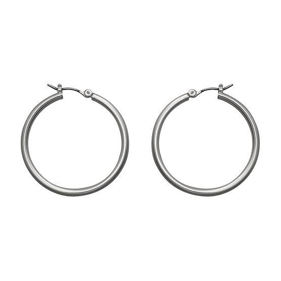 Nine West Silver Hoop Earrings