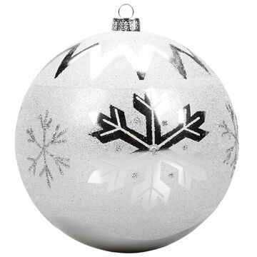 Winter Wishes Blue Ice Ball Ornament - Snowflake