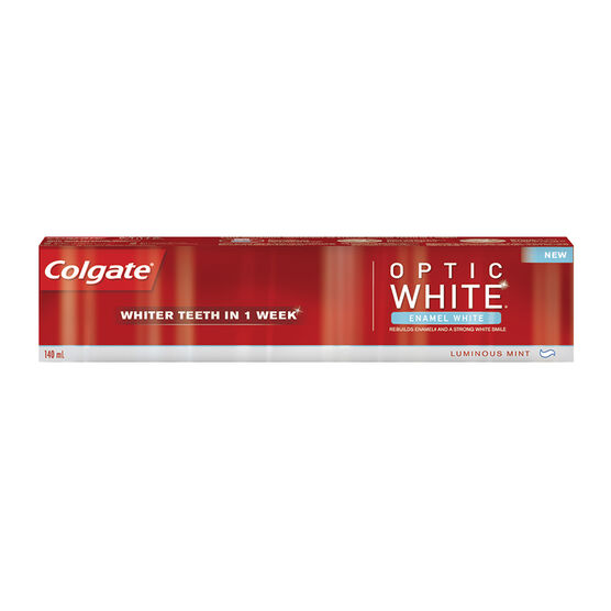 Colgate Optic White Enamel White Toothpaste - Luminous Mint - 140ml