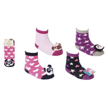 Bebe Rattle Socks - Girls - 3-12 months