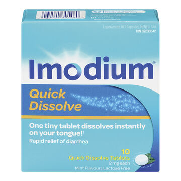 Imodium Quick Dissolve Tablets - 10's