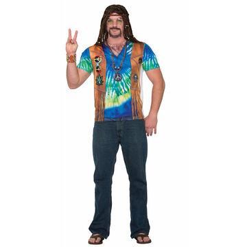 Halloween Hippie Man 3D Tee - XL