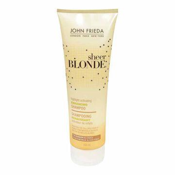 John Frieda Sheer Blonde Highlight Activating Enhancing Shampoo for Darker Blondes - 250ml