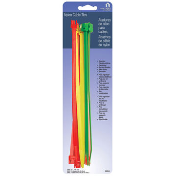 Helping Hand Fluorescent Cable Ties - 15-18 inch