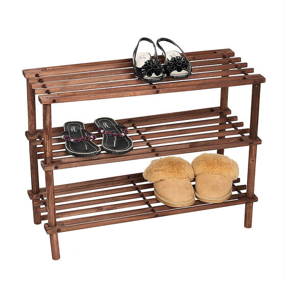 London Drugs Wood Shoe Rack - Dark Brown - 64 x 26.5 x 48cm