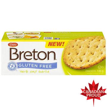 Breton Gluten Free Crackers - Herb & Garlic - 135g