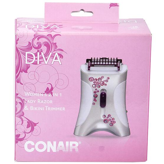 Conair Diva 2 in 1 Lady Razor & Bikini Trimmer - LT280EC