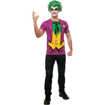 Halloween The Joker Shirt and Wig - Large