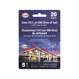 Esso Price Privileges Gift Card - $20