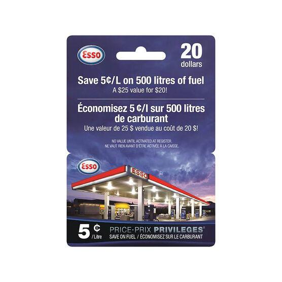 Esso Price Privileges Gift Card - $20