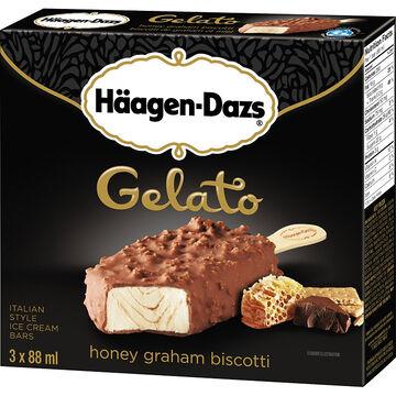 Haagan Dazs Gelato - Honey Graham Biscotti - 3x88ml