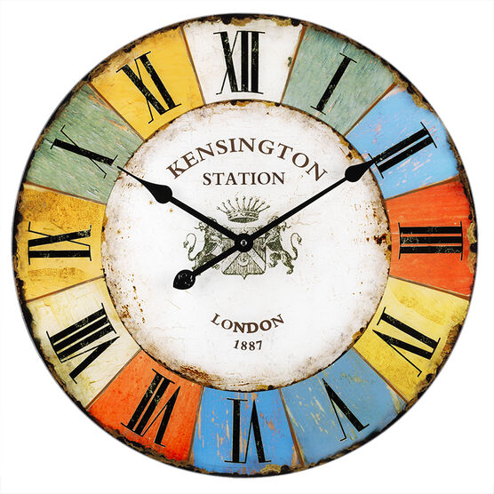 London Drugs Glass Wall Clock - Kensington Station
