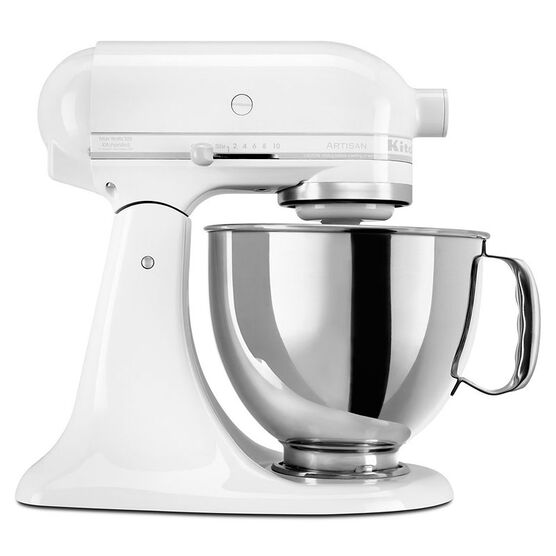 KitchenAid Artisan Series 5 quart Stand Mixer - White on White - KSM150PSWW