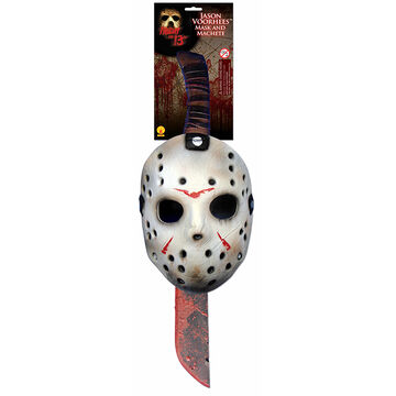 Halloween Jason Voorhees Mask and Machete