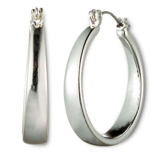 Nine West Silver Medium Hoop Earrings