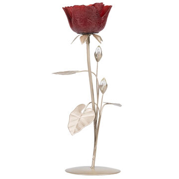 London Drugs Glass Candle Holder - 1 Red Rose