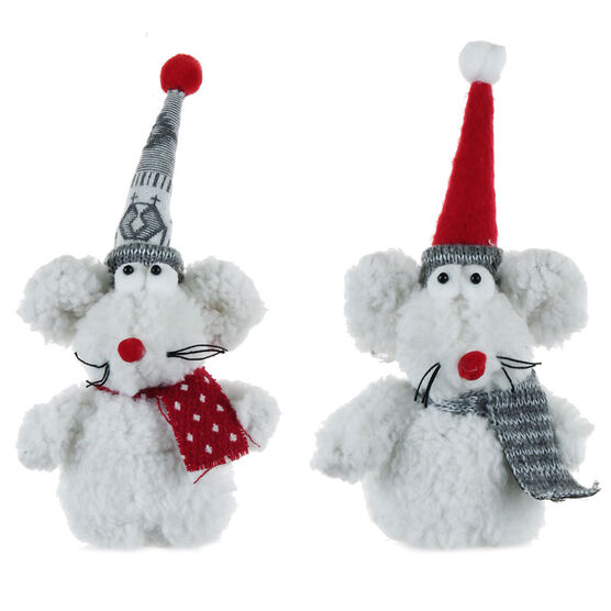 Winter Wishes Mouse Ornament - 6 inch - Assorted