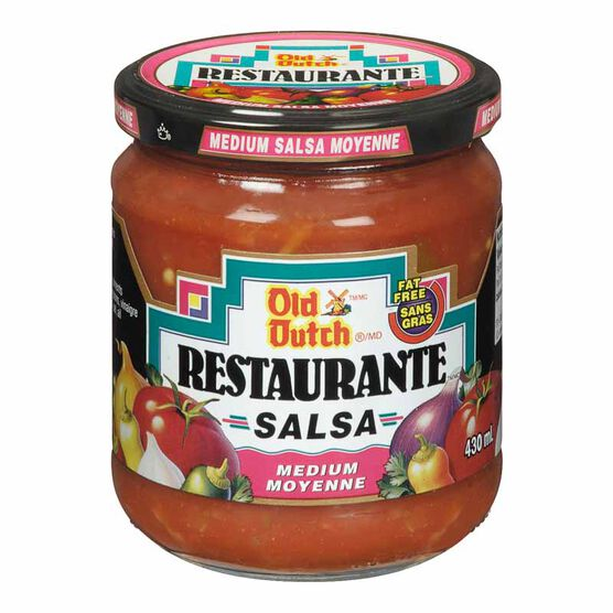 Old Dutch Restaurante Salsa - Medium - 430ml